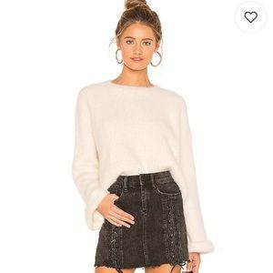 Jessie Fuzzy Sweater in Cream